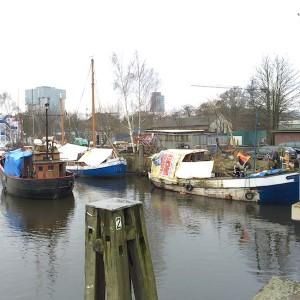Binnenhafen Harburg: Binnenschiffe